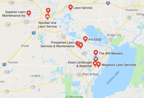 Map Of South East Texas.Golden Triangle Southeast Texas Lawn Service Map